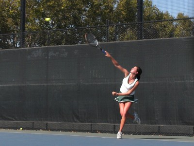 Girls' tennis finished first day of the Paly Invitational Tournament