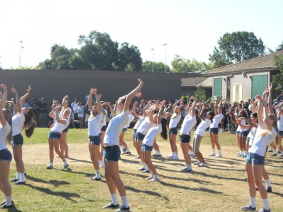 Bump, set, dance? Girls' volleyball teams perform flash mob