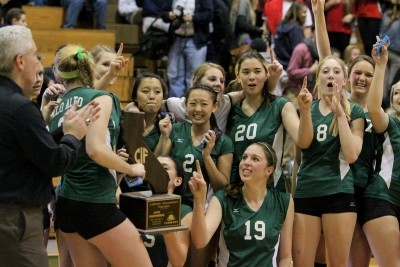 Palo Alto High School Girls Volleyball wins state