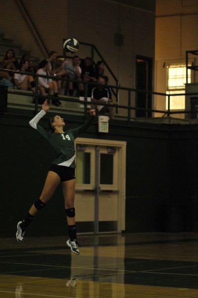 Paly volleyball defeats Leland at home in straight sets