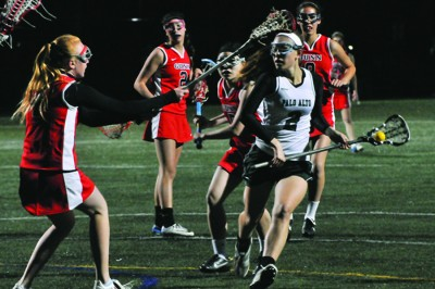 Girls lacrosse remains undefeated with win over Gunn