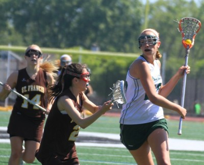 Girls&#8217; lacrosse loses early lead, drops league championship in triple overtime