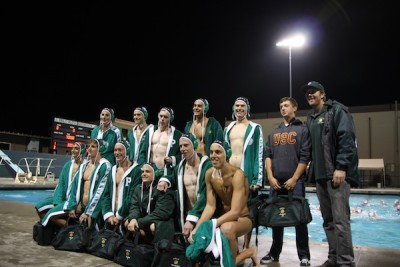 Boys' water polo dominates against Monta Vista 14-7 on Senior Night