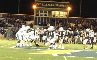 Football defeats Leland 54-24 in first round of CCS