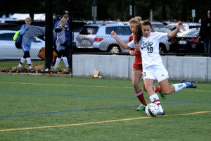 Girls' soccer records first win of the season, 2-0