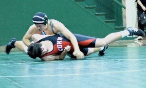 Wrestling falls to cross-town rival Gunn, 46-34